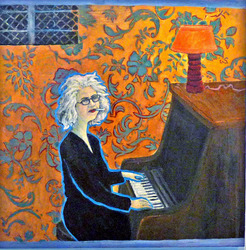 She was not talented but she hid Anne Frank beind her piano.